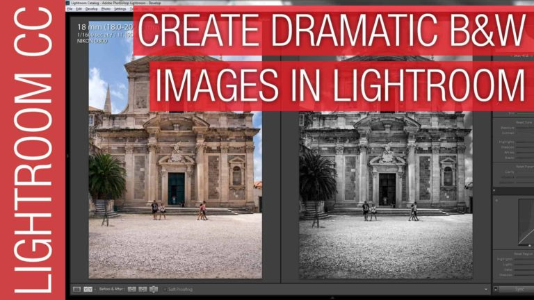 The Secret to Dramatic Black & White Photographs in Adobe Lightroom