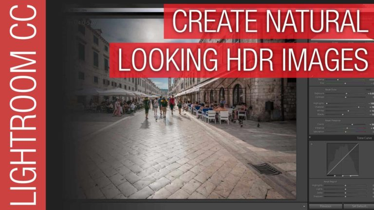 Lightroom CC Tutorial – HDR Photography and Merge to HDR