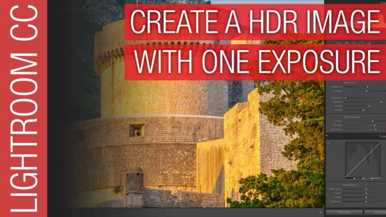 How to Create a HDR Image From One Exposure / Photograph in Adobe Lightroom CC